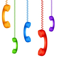 Colored handsets vector image