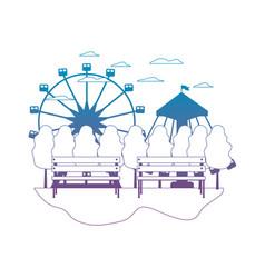 Degraded line mechanical ride carnival games vector