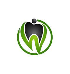 dental logo care logo clinic logo vector image
