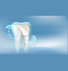 dental veneers tooth whitening vector image