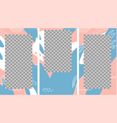 design backgrounds for social media banner set of vector image