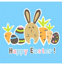 Easter colorful blue card template vector image
