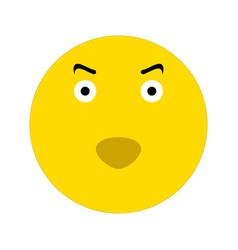 evil smiley icon vector image