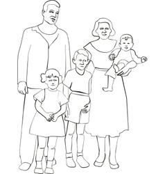 Family silhouette 02 vector image