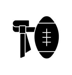 flag football black glyph icon vector image