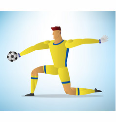football goalkeeper player vector image