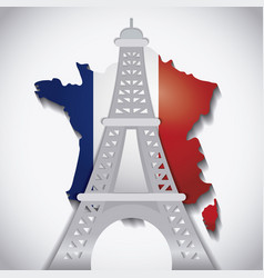 france flag design vector image