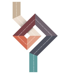 Geometric abstract shape for design vector image