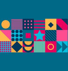 geometric pattern background flat design vector image