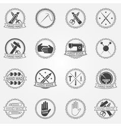 Handmade badges or labels vector
