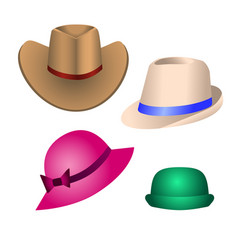 Hats for decoration of postcards banners booklets vector