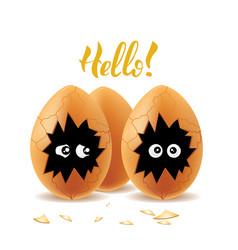 Hello eggs illistration vector