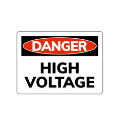 high voltage danger sign warning symbol vector image