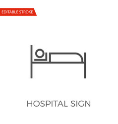 hospital sign icon vector image