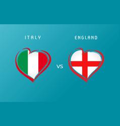 italy vs england flag emblem banner blue vector image
