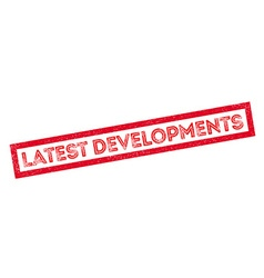 Latest Developments rubber stamp vector