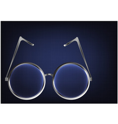 Metal glasses on a blue vector