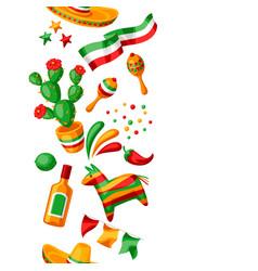 mexican cinco de mayo seamless pattern vector image