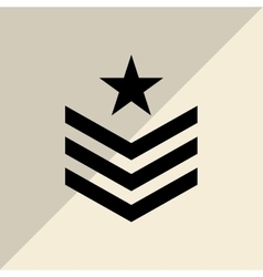 Military star design vector image