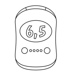 Modern glucose meter icon outline style vector