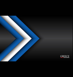 Modern overlayed arrows with greek colors and vector