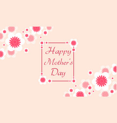 Mother day card background vector