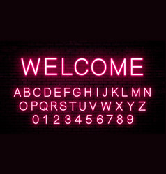 neon letters of the english alphabet vector image