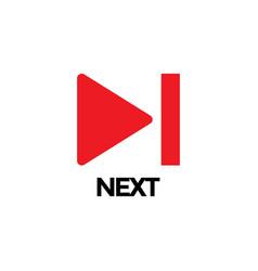 next video graphic icon design template vector image