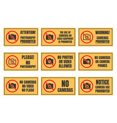 No photo sign photography prohibited signboard vector