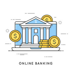 Online banking internet payments money vector