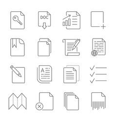 paper icon document icon editable stroke vector image