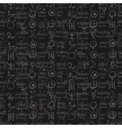 pattern with alchemy symbols vector image
