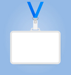 plastic id badge with holder for name tag vector image