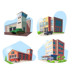 police firehouse hospital military base vector image