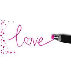 Realistic lipstick love sale for woman vector