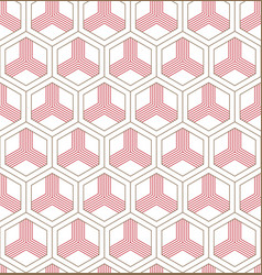 seamless geometric pattern classic chinese vector image