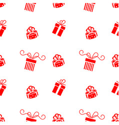 set of christmas gift box icon isolated on vector image