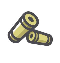 Shotgun two shells icon cartoon vector