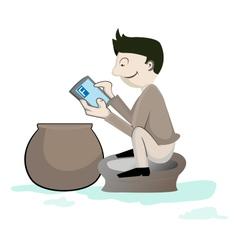 Smartphone crazy vector