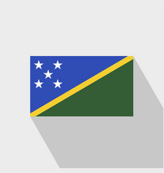 Solomon islands flag long shadow design vector