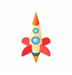 Space rocket icon cartoon style vector