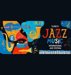 summer international jazz music festival vector image