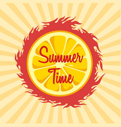summer time theme vector image