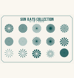 Sun rays and beams collection fifteen vector