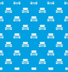 supermarket building pattern seamless blue vector image