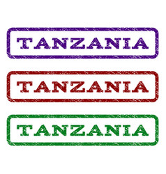 Tanzania watermark stamp vector