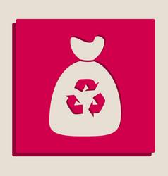 trash bag icon grayscale version of vector image