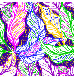 tropical foliage seamless pattern exotic vector image
