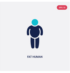Two color fat human icon from feelings concept vector