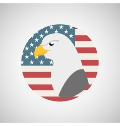 Usa flag freedom symbol eagle vector